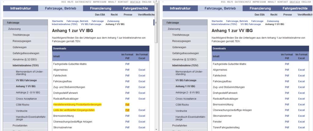 Bild Homepage-Überwachung Vergleich alt-neu