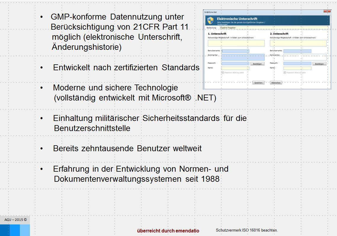 emendatio Software Normenmanagement Regelwerkmanagement Anforderung elektronische Unterschrift