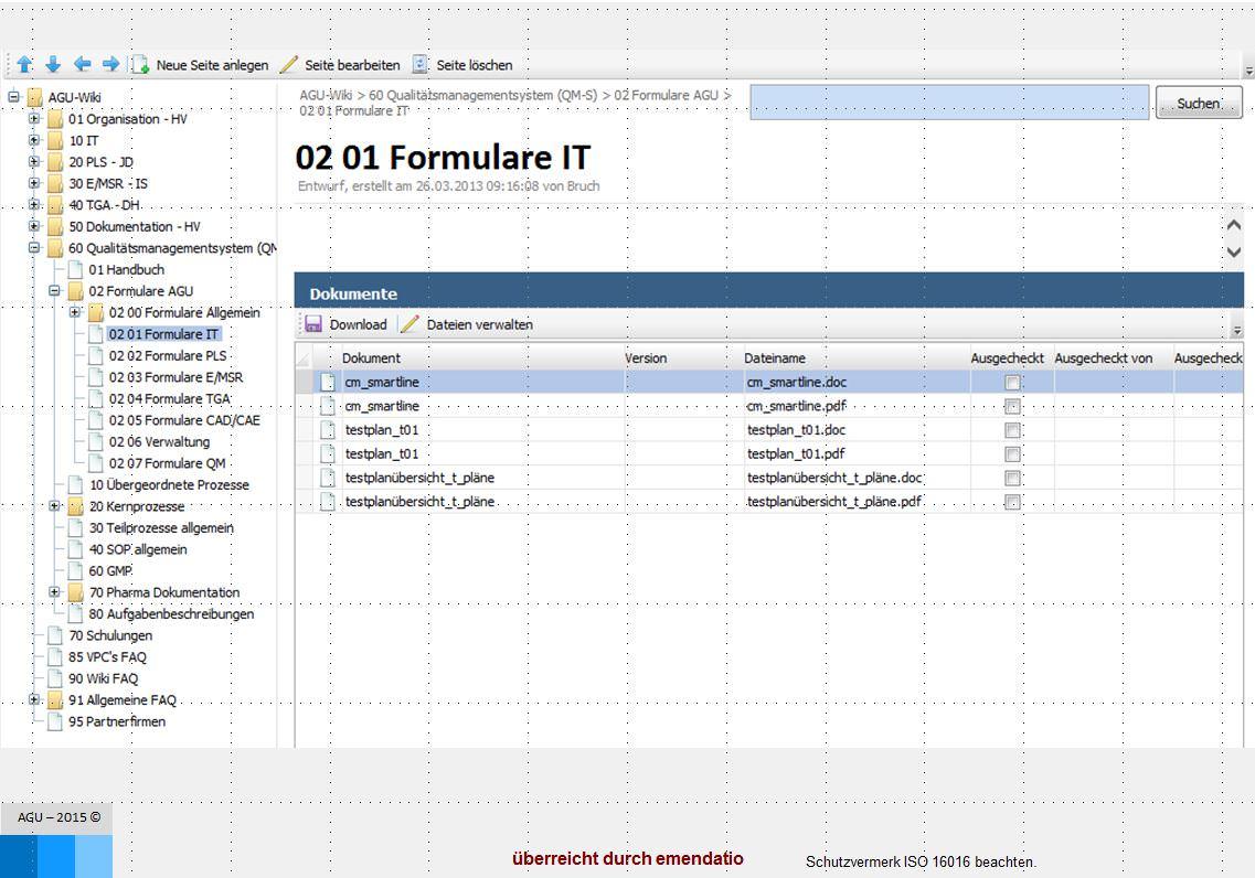Ein Beispiel der Baumfunktion in der Software Regelwerkmanagement